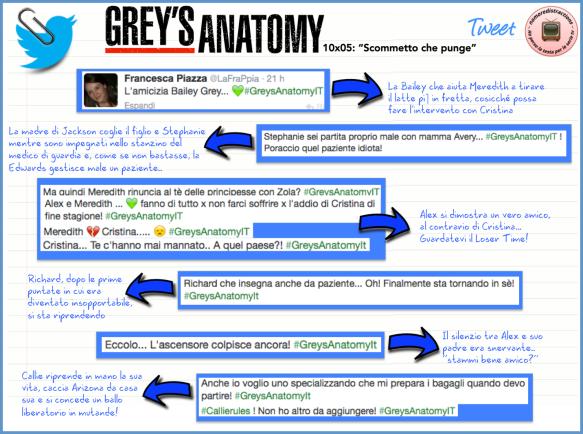 Grey's Anatomy 10x05 Twitter